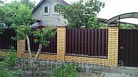 Евроштакетник металлический матовый двухсторонний 0,5мм Польша, фото 6