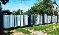 Евроштакетник металлический матовый двухсторонний 0,5мм Польша, фото 7