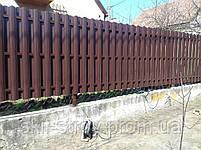 Евроштакетник металлический матовый двухсторонний 0,5мм Польша, фото 9