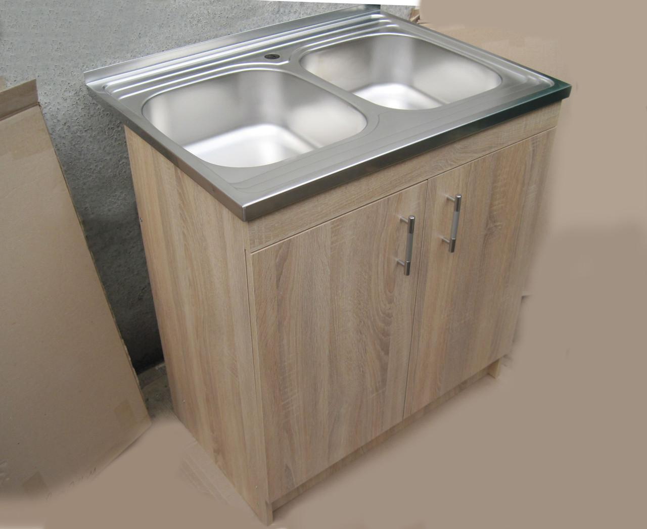 Кухонная мойка с тумбой 80 х 60 Сонома