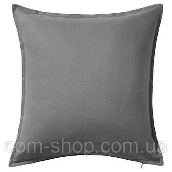 Чехол на подушку диванную IKEA, декоративная наволочка, серый 50x50 см