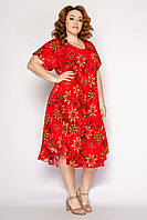 Красивые летние платья женские свободного кроя размеры 54-58