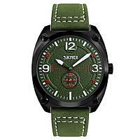 Skmei 9155 зеленые мужские классические часы, фото 1