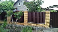 Евроштакетник металлический матовый двухсторонний, фото 6