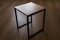 Стілець кухонний в стилі Лофт з Бука та металу 40х40х45