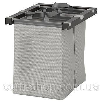 IKEA Выдвижная сумка для хранения, черно-коричневый, 50x58x48 см