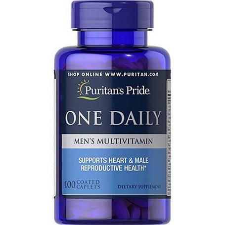Витамины для мужчин Puritans Pride One Daily Men's Multivitamin 100 caplets, фото 2