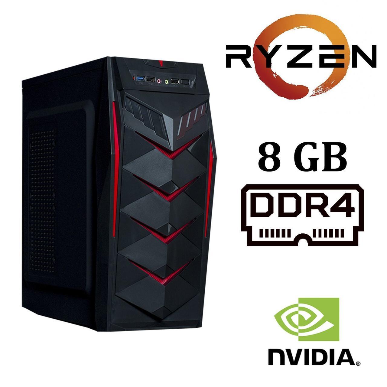 Frontier JUMBO MT / AMD Ryzen™ 3 1300X (4 ядра по 3.5 - 3.7 GHz) / 8 GB DDR4 / 1000 GB HDD / nVidia GeForce GT 1030 (2GB GDDR5)