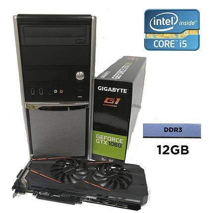 EuroCom Tower / Intel® Core™ i5-2400 (4 ядра по 3.10 - 3.40 GHz) / 12GB DDR3 / 500GB HDD + 120 GB SSD / GeForce GTX 1060 3Gb GDDR5 192-bit / БП 500W, фото 2