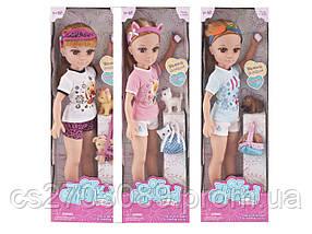 Кукла 43 см с питомцем