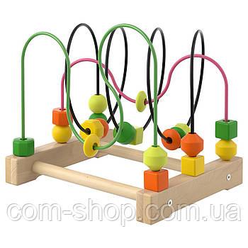 IKEA Лабиринт деревянный детский с фигурками, развивающие игрушки