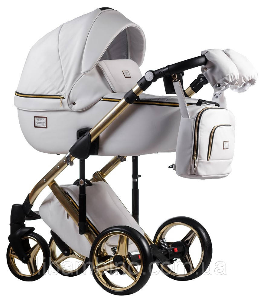 Дитяча універсальна коляска 2 в 1 Adamex Luciano Polar Gold Q107