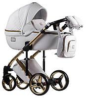 Дитяча універсальна коляска 2 в 1 Adamex Luciano Polar Gold Q107, фото 1