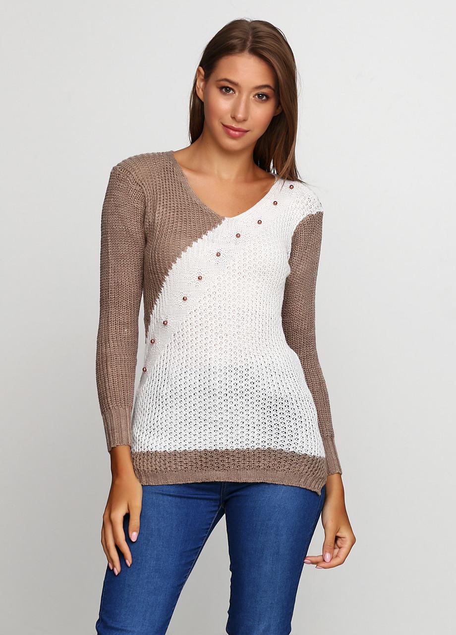 Темно-бежевый свитер пуловер Massimo