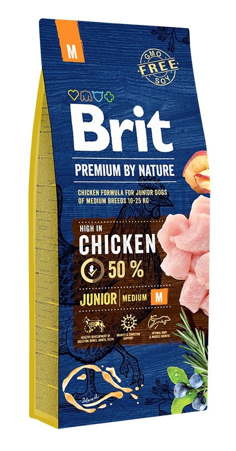 Сухой корм для щенков средних пород Brit Premium Junior M 15 кг