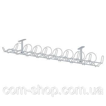 IKEA Канал для кабеля горизонтальный, серебристый, 70 см