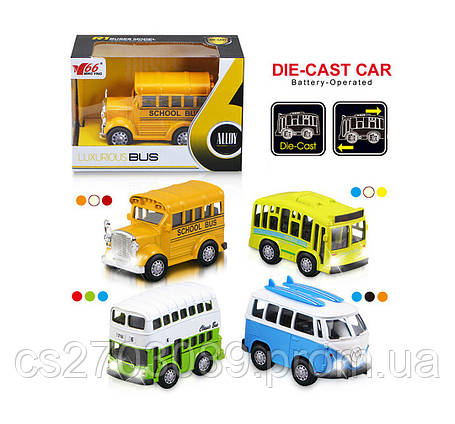 Металлический автобус 1:36  инерционный, фото 2