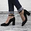 Классические замшевые туфли на каблуке