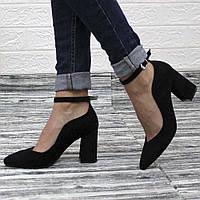 Классические замшевые туфли на каблуке, фото 1