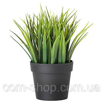 IKEA Искусственное растение в горшке, д/дома/улицы трава, 9 см