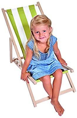 Детский шезлонг для для пляжа, дома, дачи Деревянный шезлонг для детей