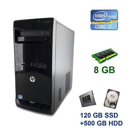 HP Pro 3500 Tower / Intel Core i7-3770 (4 (8) ядра по 3.4 - 3.9 GHz) / 8 GB DDR3 / 120 GB SSD+500 GB HDD / nVidia GeForce GTX 1650 StormX, 4 GB GDDR5,, фото 2