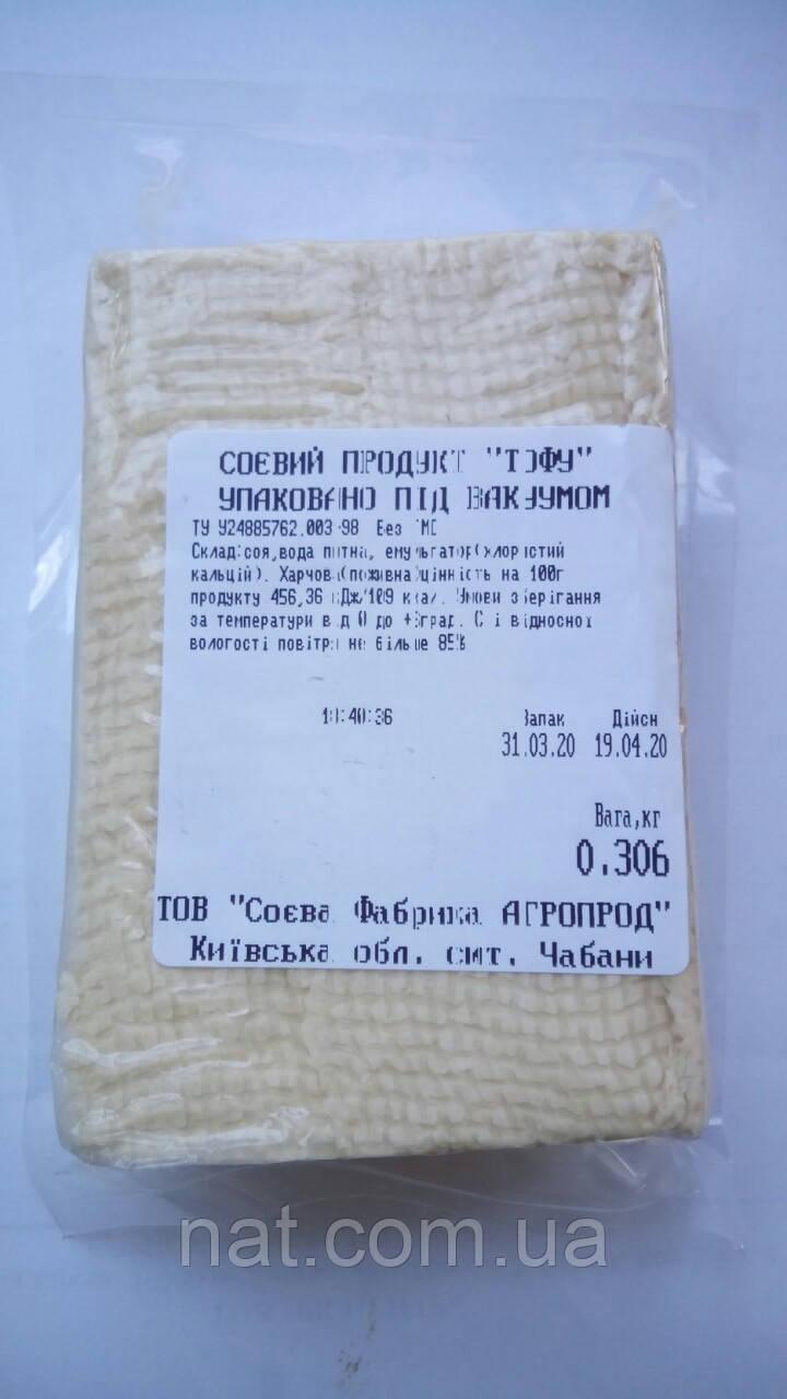 Тофу без добавок ТОВ Соевая Фабрика Агропрод, 300г (в вакууме)