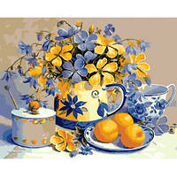 Картины по номерам - Абрикосовый натюрморт (КНО2031), фото 1