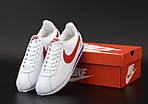 Мужские кроссовки Nike Cortez (бело-красные) 12147, фото 2