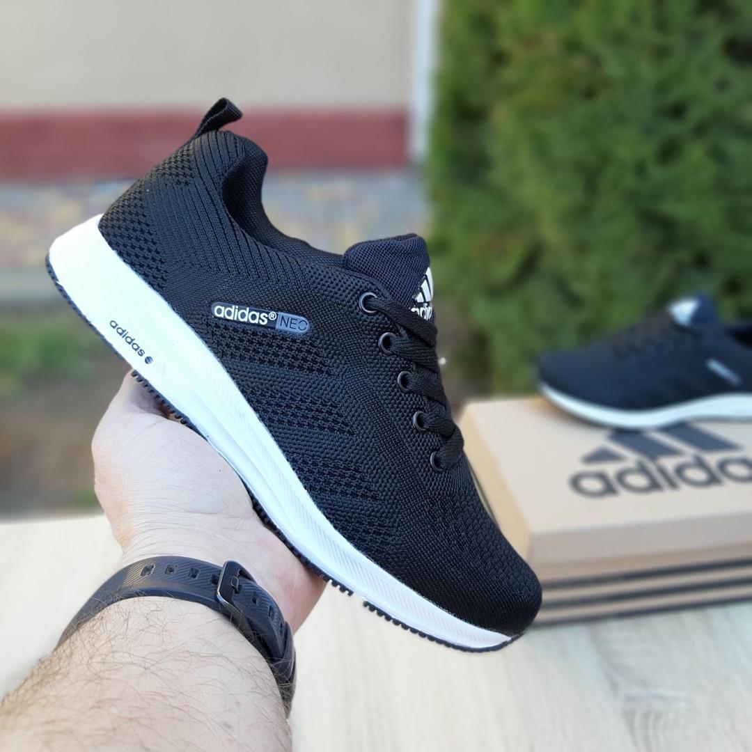 Женские кроссовки Adidas NEO (черно-белые) 20059