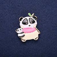 Брошка дитяча Ведмідь Панда красива прикраси на одяг 32*28 мм Mir-33476