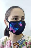 """Защитная многоразовая маска для лица Deko """"Бабочки"""""""