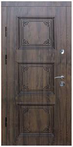 """Входные двери металлические, рис. """"Гранд"""" №2, Цвет ПВХ-02, черная патина"""