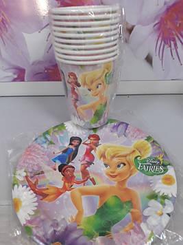 Набор посуды с рисунком фея Динь динь