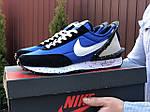 Мужские кроссовки Nike Undercover Jun Takahashi (сине-черные с белым) 9220, фото 2