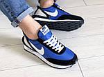 Мужские кроссовки Nike Undercover Jun Takahashi (сине-черные с белым) 9220, фото 3