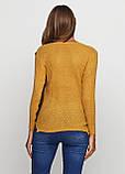Горчичный свитер пуловер Massimo, фото 2