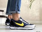 Мужские кроссовки Nike Undercover Jun Takahashi (темно-синие с желтым) 9226, фото 3