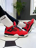 Мужские кроссовки Nike Air Jordan 4 Retro Red/Black/White
