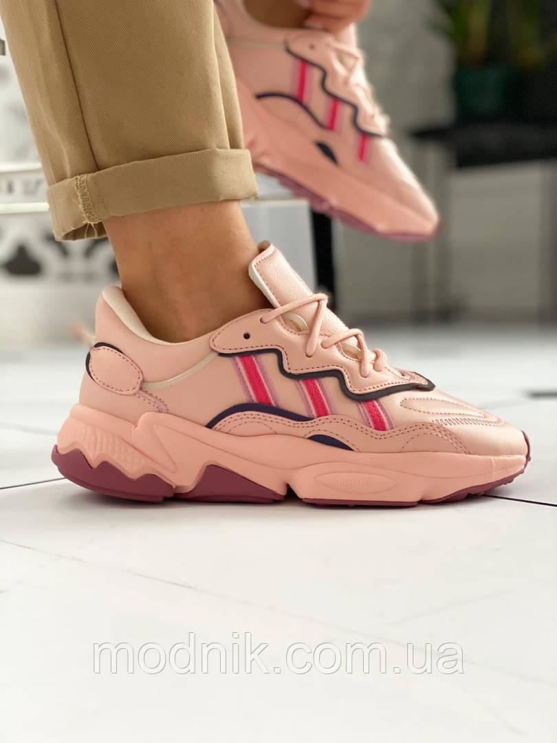 """Женские кожаные кроссовки Adidas Ozweego """"W Ice Pink"""" 9403"""