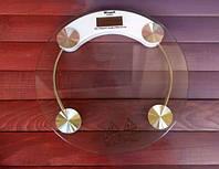 Оригинал! Комнатные напольные  весы круглые стеклянные До 150 кг ACS 2003A