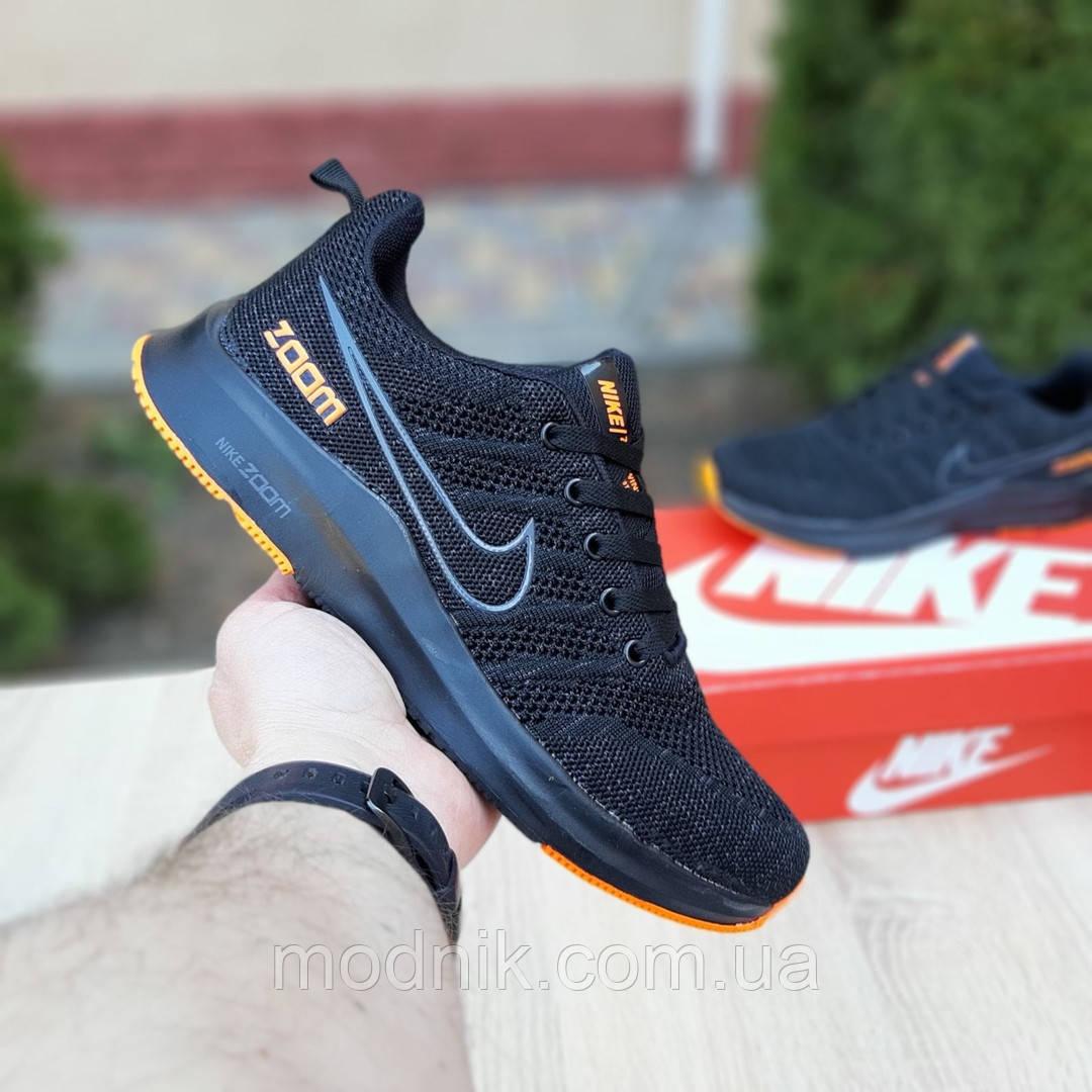 Мужские кроссовки Nike ZOOM (черно-оранжевые) 10070