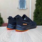 Мужские кроссовки Nike ZOOM (черно-оранжевые) 10070, фото 2