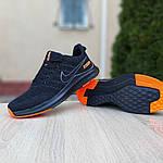 Мужские кроссовки Nike ZOOM (черно-оранжевые) 10070, фото 5