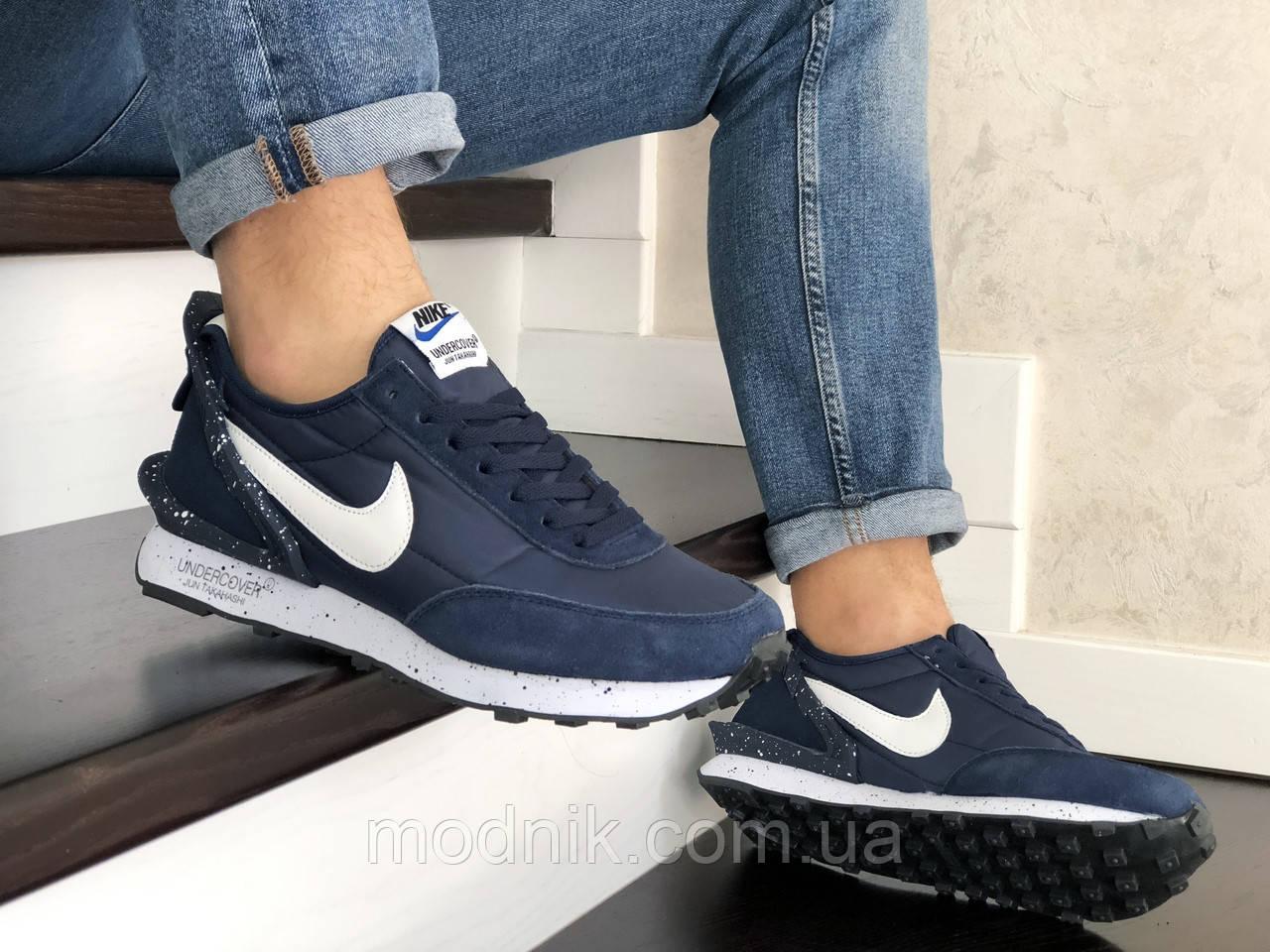 Мужские кроссовки Nike Undercover Jun Takahashi (темно-синие с белым) 9224