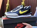 Мужские кроссовки Nike Undercover Jun Takahashi (темно-синие с желтым) 9226, фото 2