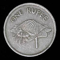 Монета Сейшельских островов 1 рупия 1997 г. Тритон Стромбида