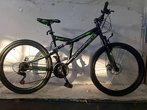 """Велосипед горный двухподвесный Dinamic 26"""", рама 18,5"""", FRD BLACK-GREEN, фото 2"""