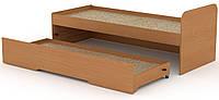 Кровать с выдвижным спальным местом КОМПАНИТ Кровать-80+70 Бук (204.2х84.6х75)