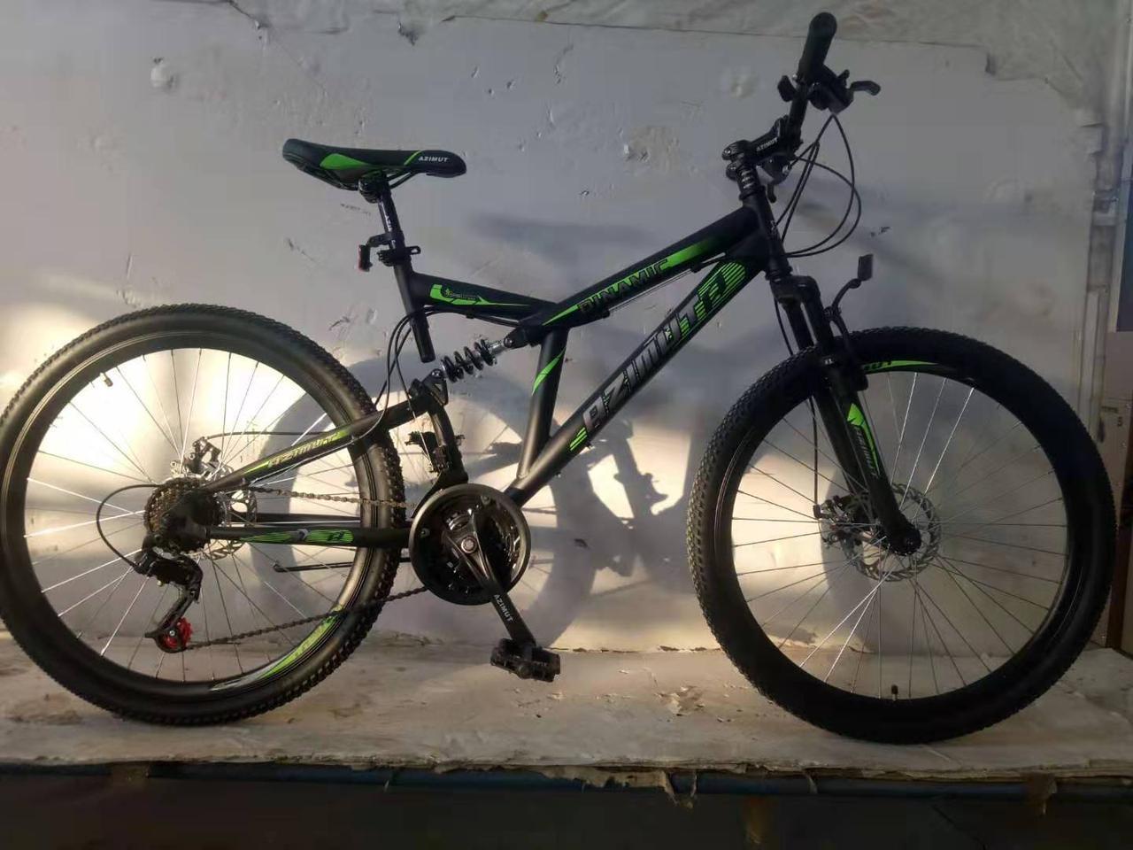 """Велосипед горный двухподвесный Dinamic 26"""", рама 18,5"""", FRD BLACK-YELLOW"""